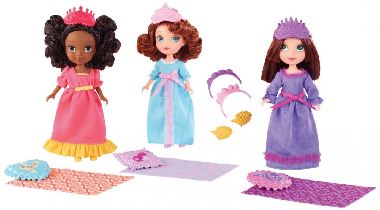 Куклы София Прекрасная Пижамная Вечеринка набор 3 в 1, DISNEY Sofia the First Royal Sleepover™ Dolls 3-Pack