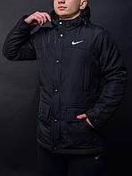 Мужская черная Парка Nike