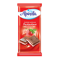 Молочный шоколад с клубничным вкусом Alpinella 90г