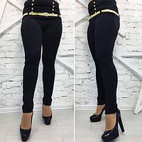 Лосины женские с корсетом черные 15686