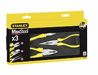 Набір суставно-губцевого інструмента 3од. MAXSTEEL (пассатижі, довгогубці, бокорізи 165мм) Stanley 4-84-488 |