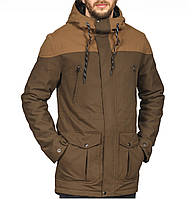 Куртка весенняя, осенняя, демисезонная парка до 0 °С, мужская, синяя, Супер качество!