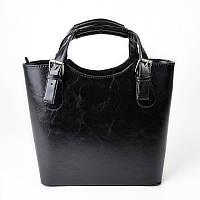 Черная сумка глянцевая корзинка деловой стиль
