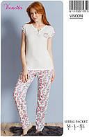 Домашний комплект женский (пижама) футболка и брючки VIENETTA