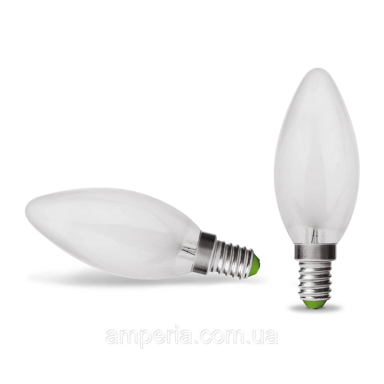 EUROLAMP LED Лампа Свеча ArtDeco 4W E14 4000K (матовая) (LED-CLF-04144(deco))