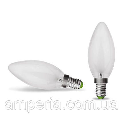 EUROLAMP LED Лампа Свеча ArtDeco 4W E14 4000K (матовая) (LED-CLF-04144(deco)), фото 2
