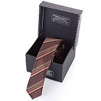 Мужской узкий шелковый галстук eterno (ЭТЕРНО) eg654