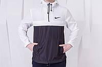 Анорак Nike (Найк) - Ветровка, черная, белая, ф246