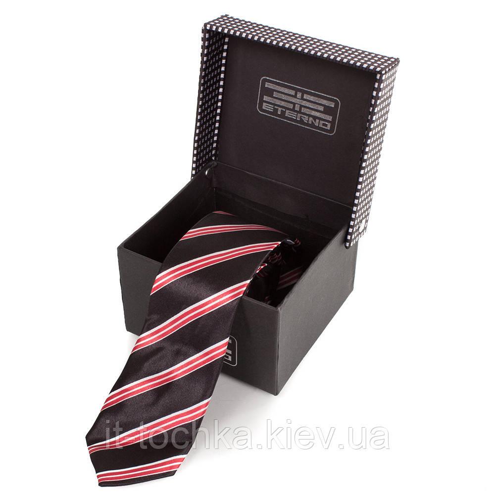 Мужской узкий шелковый галстук eterno (ЭТЕРНО) eg616