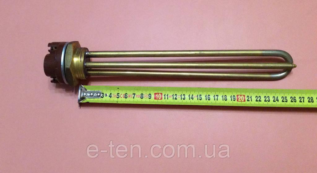 """Тэн прямой 1,2 кВт на резьбе 1 1/4"""" (под гайку) с терморегулятором         Китай"""