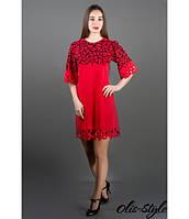 Стильное женское красное платье Мэйби Olis-Style 44-52 размеры