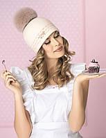 Женская шапка с помпоном из песца  Jasmina от Willi Польша