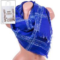 Шерстяной женский шарф eterno es1405-8-5 синий 190х70 см