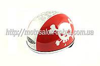 "Шлем-каска   ""TVD""   (mod:Skull) (size:L, красно-белый)"