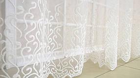 """Готовая тюль-вышивка """"Люси"""" V1 (Белый), 4 метра"""