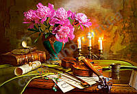 """Пазлы 1500 эл.. Castorland """"Still Life with Violin and Flowers"""" (14)"""