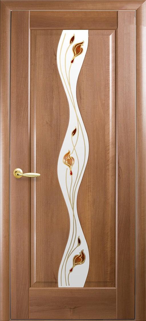 Межкомнатные двери Новый Стиль Волна стекло сатин
