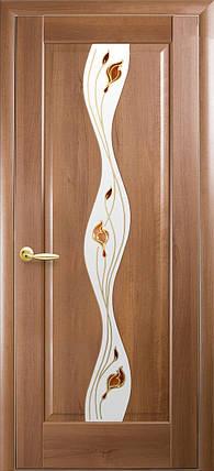 Межкомнатные двери Новый Стиль Волна стекло сатин, фото 2