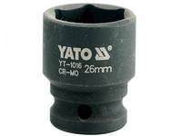"""YATO Головка торцева ударна 6-гран. , до квадр. 1/2"""", М=26мм, L= 43 мм"""