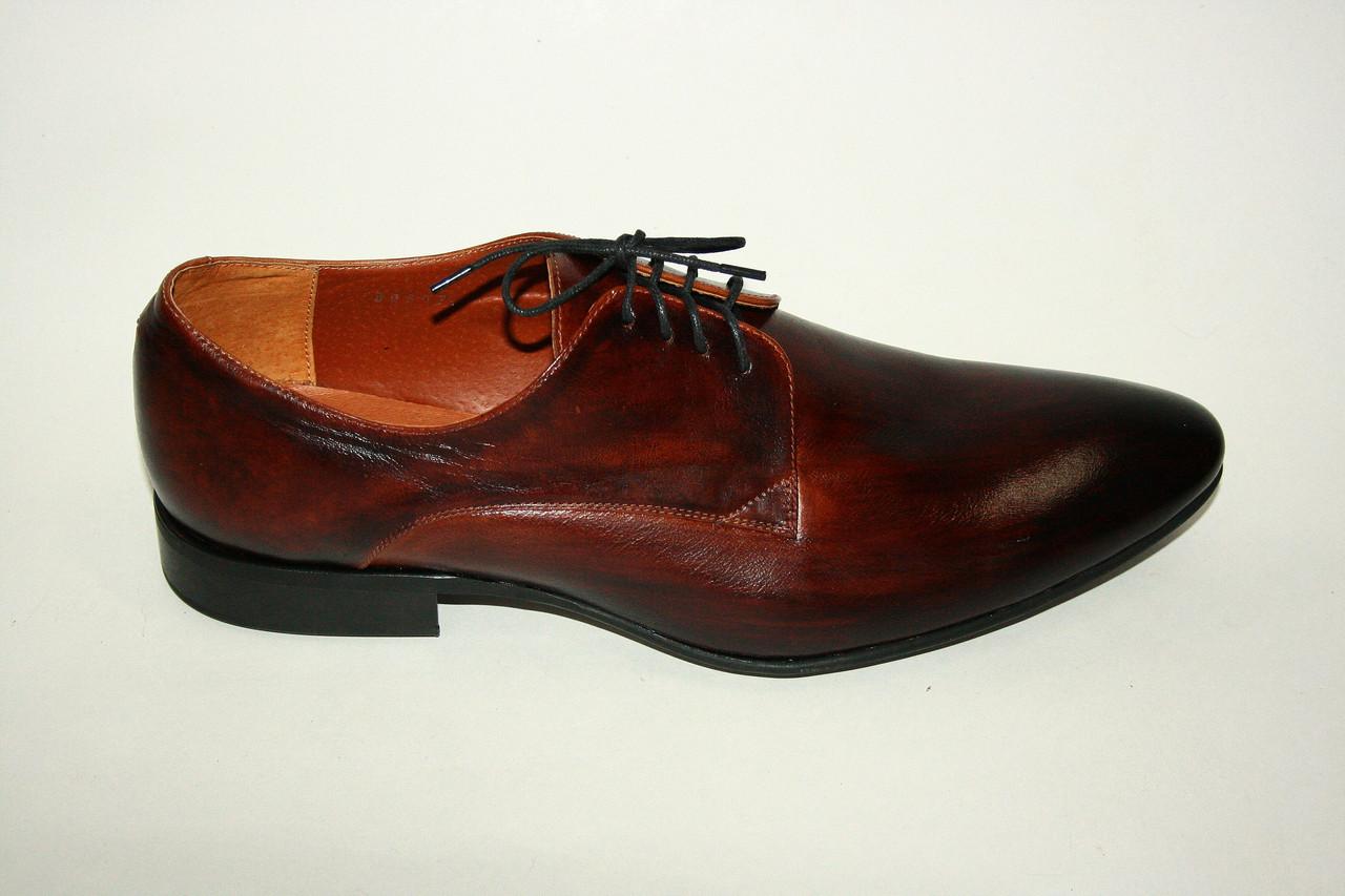 Туфли мужские темно-коричневого цвета/man shoes 09607