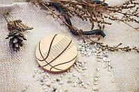 """Гребень на магнитах """"Баскетбол"""" из натурального дерева в холдере"""