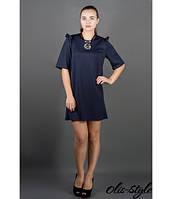 Короткое женское синее платье Блуми Olis-Style 44-52 размеры