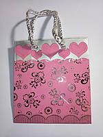 Пакеты из картона 10х11х5,5  Миники( Розовый)