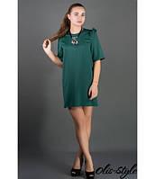 Короткое женское зеленое платье Блуми Olis-Style 44-52 размеры