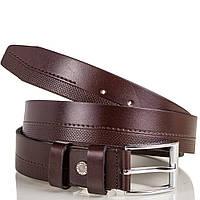 Мужской кожаный ремень y.s.k. shi2016-brown коричневый