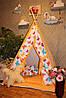 """Детский игровой домик, вигвам, палатка, шатер, шалаш """" Цветные бабочки"""""""
