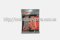 """Колодки тормозные (диск)   Honda CB125   """"YONGLI PRO""""   (красные)"""