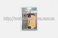 "Колодки тормозные (диск)   Honda CB125   ""YONGLI""   (желтые)"