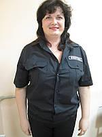 Рубашка для охраны черная, сорочка для охранных структур