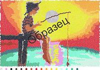 Схема для вышивки бисером «Рыбак»
