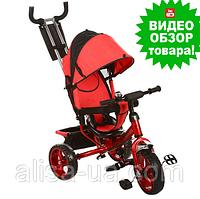 Велосипед трехколесный детский Turbo Trike M 3113-3 с ручкой, Турбо Трайк колеса пена красный