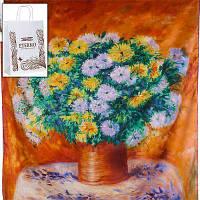Шелковый платок eterno es0611-21 репродукция картины в стиле импрессионизма Астры