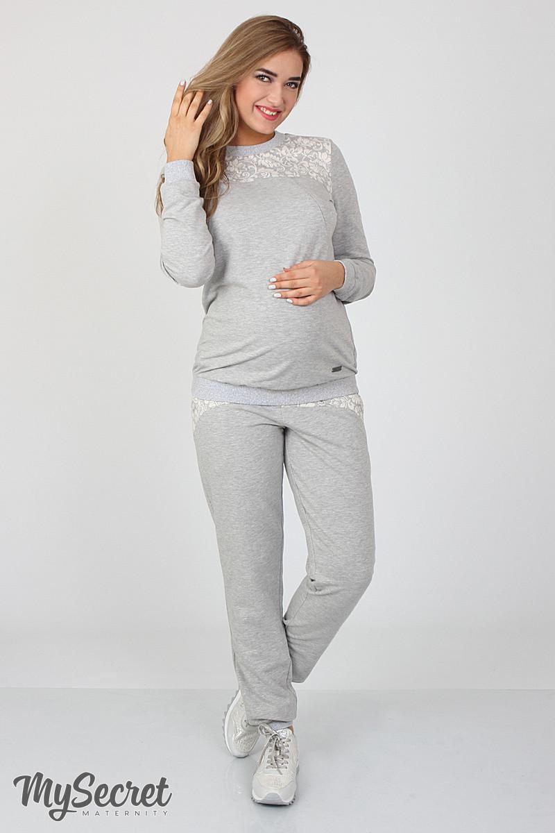 Спортивные брюки для беременных Noks light, серый меланж