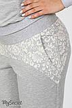 Спортивные брюки для беременных Noks light, серый меланж, фото 4