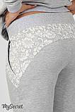 Спортивные брюки для беременных Noks light, серый меланж, фото 5