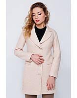 Пальто-пиджак персиковое