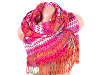 Зимний шарф venera c270012-pink вискоза