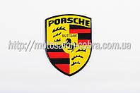 """Наклейка   логотип   """"PORSCHE""""   (8x9см, алюминий)   (#3544)"""