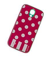 Чехол для Samsung i9500 Galaxy S4 Araree Polka Dots красный