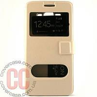 Чехол-книжка с окошками для Samsung Galaxy A500-A5 (белый)