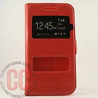 Чехол-книжка с окошками для Samsung Galaxy A500-A5 (красный)