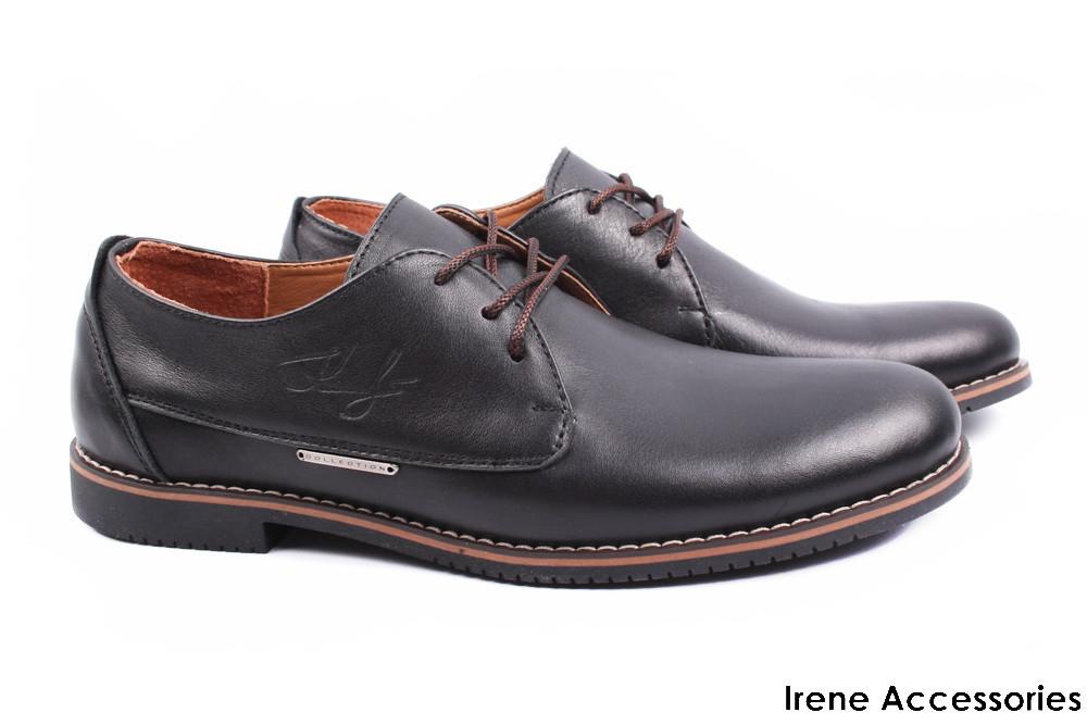 Модельные туфли мужские Konors натуральная кожа черные (мокасины мужские,  комфорт, каблук, Украина 08a4b197161