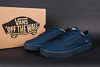 Кеды Vans весенние, летние кроссовки мужские т-синий