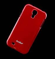 Чехол для Samsung i9500 Galaxy S4 Hollo Plastic красный