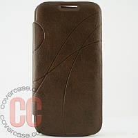 Чехол-книжка для Samsung Galaxy S4 i9500 (коричневый)