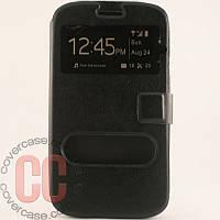 Чехол-книжка с окошками для Samsung Galaxy Grand i9080 Duos i9082 (черный)